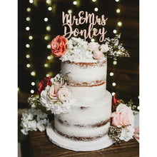 Load image into Gallery viewer, 2 Tier Naked Wedding Cake Design