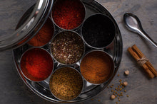 Load image into Gallery viewer, Spice Kitchen Spice Tins & Silk Sari Wrap