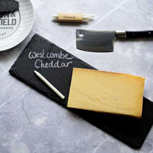 Load image into Gallery viewer, Slate Cheese Board and Chalk Set