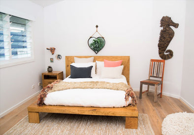 Mango Wood Platform Bed
