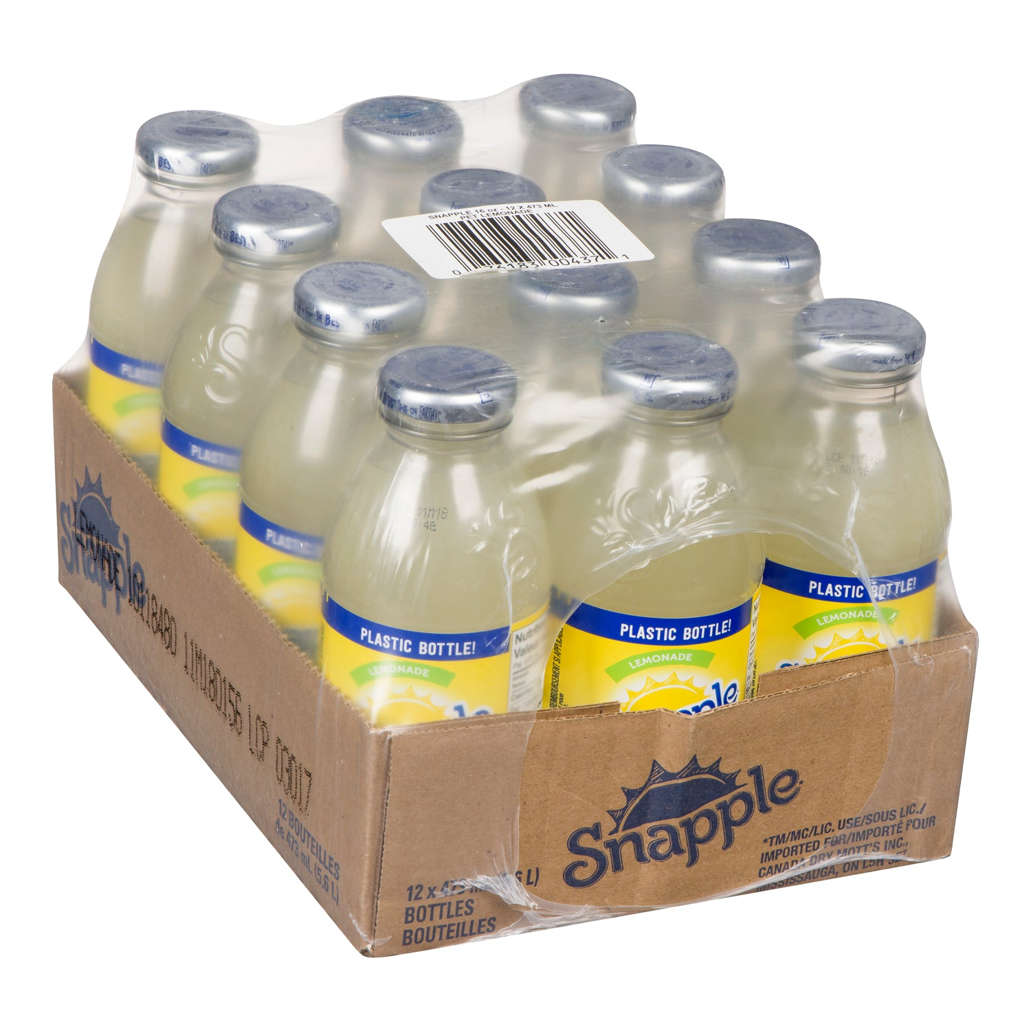 Snapple Lemonade Juice Drink 473 ml - 12 Pack [$1.42/bottle]