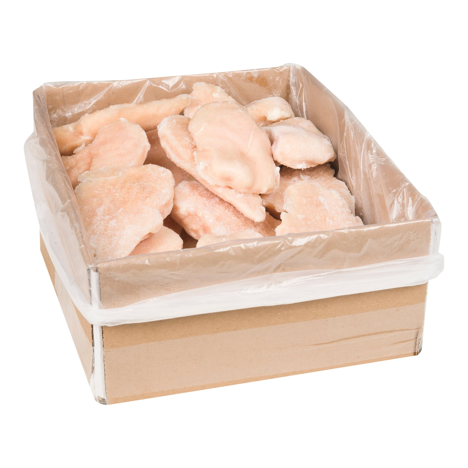 Sysco Reliance Individually Quick Frozen Boneless Skinless Chicken Breast 6 oz - 4 kg - 1 Pack [$12.25/kg]