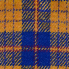 Load image into Gallery viewer, Royal Blue & Yellow Tartan Harris Tweed Lampshade - 20% Discount Applied At Checkout