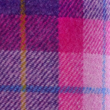 Load image into Gallery viewer, Pink & Dark Violet Tartan Harris Tweed Lampshade