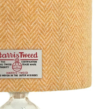 Load image into Gallery viewer, Yellow & White Herringbone Harris Tweed Lampshade