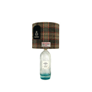 Cream, Green & Red Tartan Harris Tweed Lampshade - 20% Discount Applied At Checkout