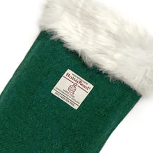 Load image into Gallery viewer, Green Harris Tweed Christmas Stocking