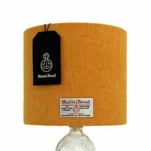 Yellow Harris Tweed Lampshade
