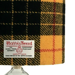 MacLeod Yellow & Black Tartan Harris Tweed Lampshade - 20% Discount Applied At Checkout