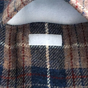 Persian Blue & Beige Tartan Harris Tweed Hot Water Bottle Cover