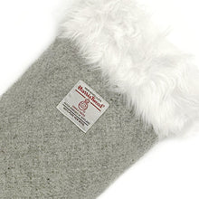 Load image into Gallery viewer, Grey Harris Tweed Christmas Stocking