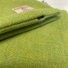 Load image into Gallery viewer, Lime Green & Yellow Mix Harris Tweed Cushion Cover