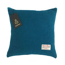 Load image into Gallery viewer, Kingfisher Blue Harris Tweed Cushion Cover