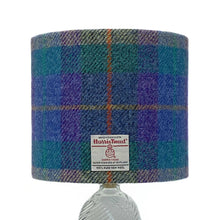Load image into Gallery viewer, Purple & Blue Tartan Harris Tweed Lampshade