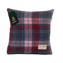Load image into Gallery viewer, Raspberry & Baby Pink Tartan Harris Tweed Cushion Cover