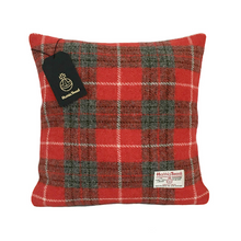 Load image into Gallery viewer, Red & Grey Tartan Harris Tweed Cushion Cover