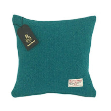 Load image into Gallery viewer, Teal & Turquoise Herringbone Harris Tweed Cushion Cover