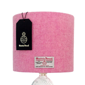 Baby Pink Harris Tweed Lampshade