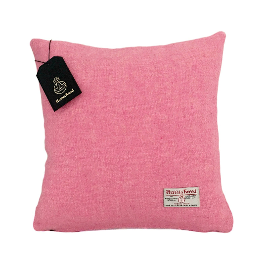 Baby Pink Harris Tweed Cushion Cover