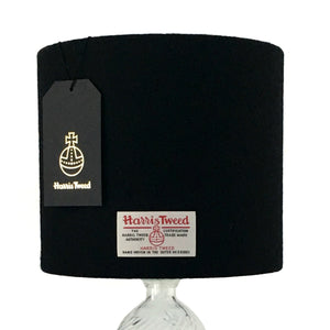 Black Harris Tweed Lampshade