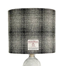 Load image into Gallery viewer, Black & Grey Ombre Harris Tweed Lampshade