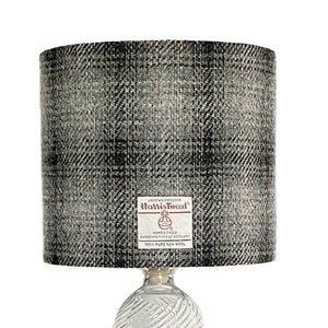 Black & Grey Ombre Harris Tweed Lampshade