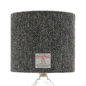 Black & White / Grey Herringbone Harris Tweed Lampshade