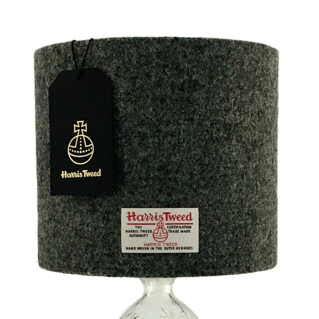 Charcoal Grey Harris Tweed Lampshade