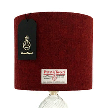 Load image into Gallery viewer, Deep Red Harris Tweed Lampshade