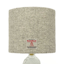 Load image into Gallery viewer, Grey Stone Herringbone Harris Tweed Lampshade