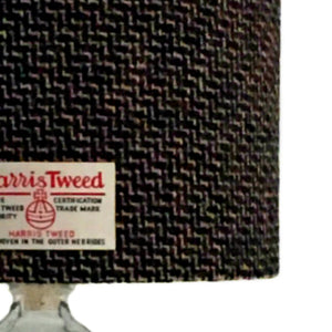 Black & Multi Coloured Tile Weave Harris Tweed Lampshade - 20% Discount Applied At Checkout