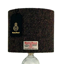 Load image into Gallery viewer, Black & Multi Coloured Tile Weave Harris Tweed Lampshade - 20% Discount Applied At Checkout