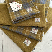 Load image into Gallery viewer, Cream, Green & Red Tartan Harris Tweed Cushion Cover