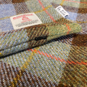 Blue & Mustard Tartan Harris Tweed Cushion Cover
