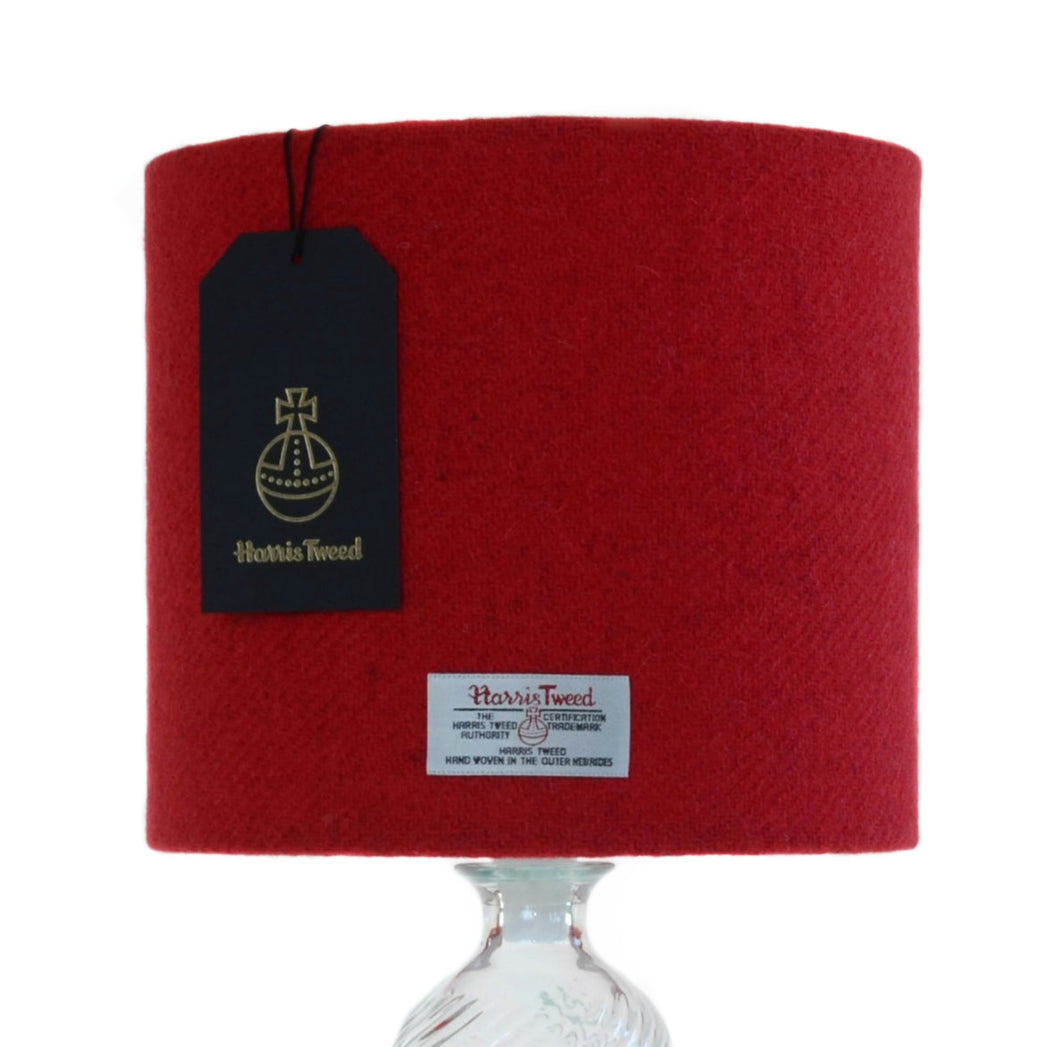 Berry Red Harris Tweed Lampshade