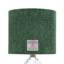 Load image into Gallery viewer, Mid Green & Light Green Herringbone Harris Tweed Lampshade