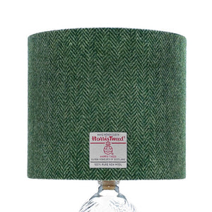 Mid Green & Light Green Herringbone Harris Tweed Lampshade