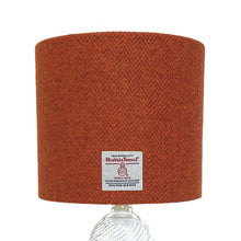 Load image into Gallery viewer, Burnt Orange & Brown Herringbone Harris Tweed Lampshade