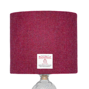 Raspberry Harris Tweed Lampshade - 20% Discount Applied At Checkout