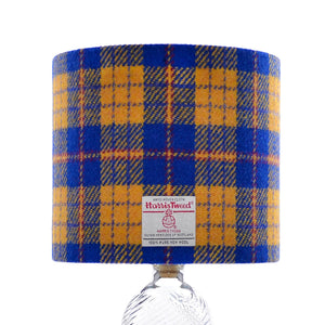 Royal Blue & Yellow Tartan Harris Tweed Lampshade - 20% Discount Applied At Checkout