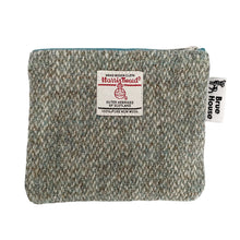 Load image into Gallery viewer, Sage Green Barleycorn Harris Tweed Padded A5 Notebook Cover