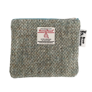 Sage Green Barleycorn Harris Tweed Padded A5 Notebook Cover