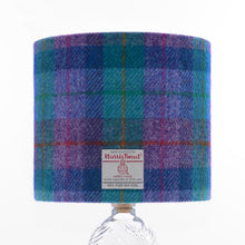 Load image into Gallery viewer, Violet & Kingfisher Blue Tartan Harris Tweed Lampshade