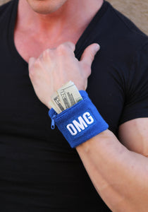 OMG® Zipper Pocket Wristband
