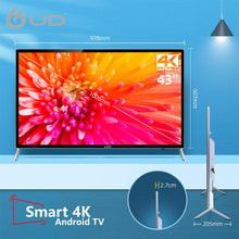 UD 109 cm (43 inches) TEMPERED GLASS 4K SMART LED TV [1GB/8GB]