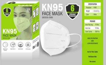 N95 High Grade Face Mask -   20 Pcs. WHOLESALE PACK (2 BOXES x 10 pcs./box)