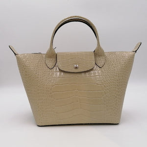 Longchamp Le Pliage Cuir Croco L1512 HVC Small