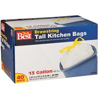 13 Gal. Tall Kitchen White Trash Bag (40-Count)