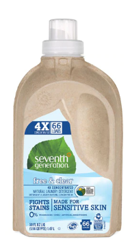 Seventh Generation, Liquid Laundry, 4X Free & Clear, 50.00 oz