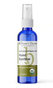 Brittanie's Thyme Organic Hand Sanitizer - 2 oz Spray Bottle